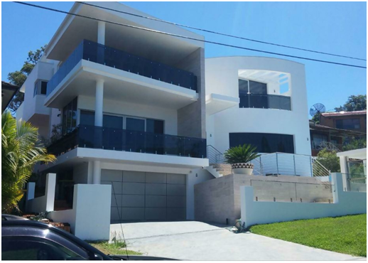 Double storey new home building construction in Sydney